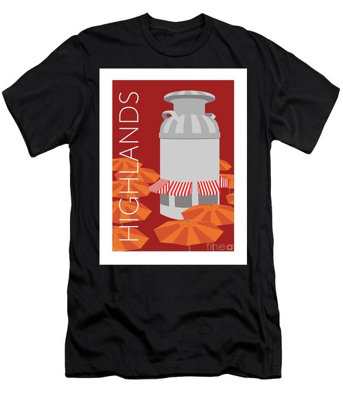 Men's T-Shirt (Athletic Fit) featuring the digital art Denver Highlands/maroon by Sam Brennan