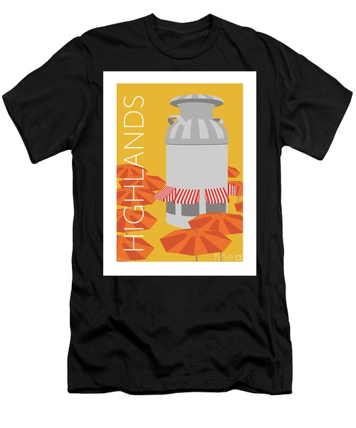 Men's T-Shirt (Athletic Fit) featuring the digital art Denver Highlands/gold by Sam Brennan