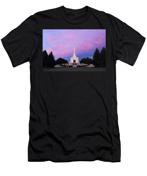 Denver Lds Temple At Sunrise Men's T-Shirt (Athletic Fit)