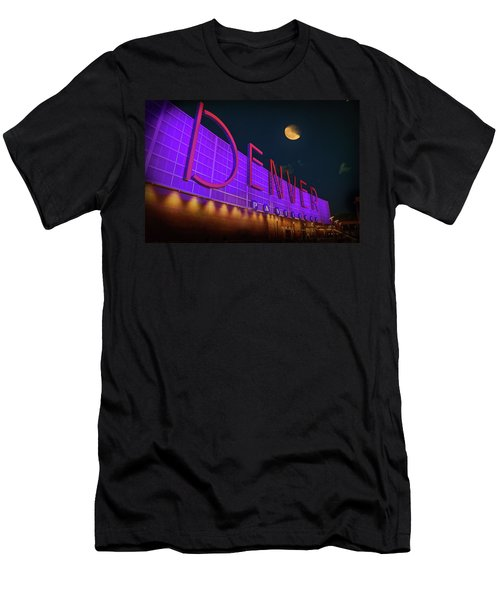 Denver Pavilion At Night Men's T-Shirt (Athletic Fit)