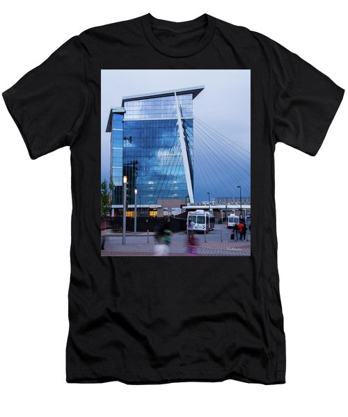 Denver Union Station And Milennium Bridge Men's T-Shirt (Athletic Fit)