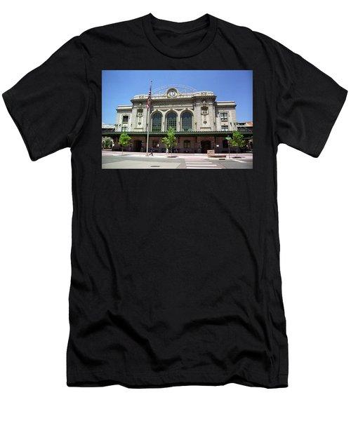 Denver - Union Station Film Men's T-Shirt (Slim Fit) by Frank Romeo