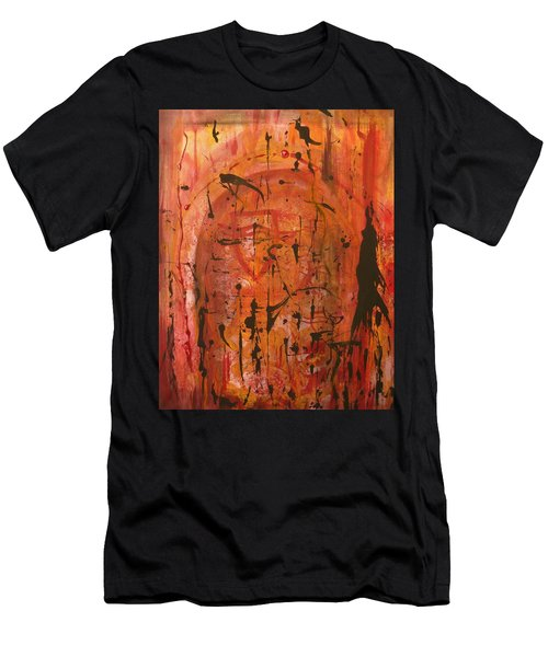 Departing Abstract Men's T-Shirt (Athletic Fit)