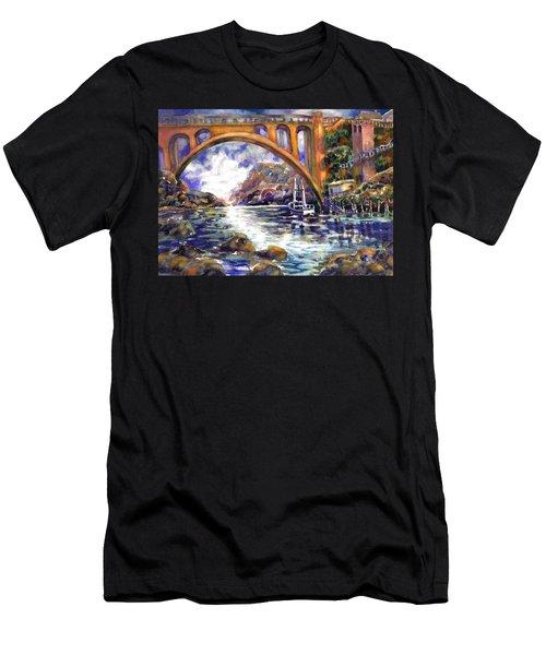 Depoe Bay Bridge Men's T-Shirt (Athletic Fit)
