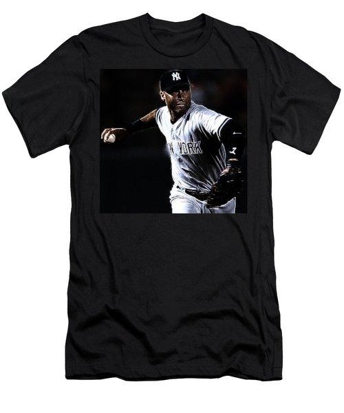 Derek Jeter Men's T-Shirt (Slim Fit) by Paul Ward