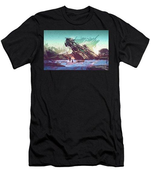 Derelict Ship Men's T-Shirt (Athletic Fit)