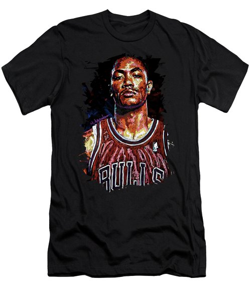 Derrick Rose-2 Men's T-Shirt (Athletic Fit)