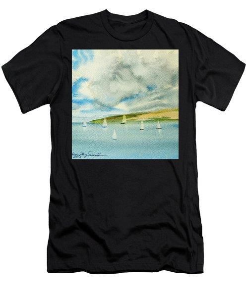 Dark Clouds Threaten Derwent River Sailing Fleet Men's T-Shirt (Athletic Fit)