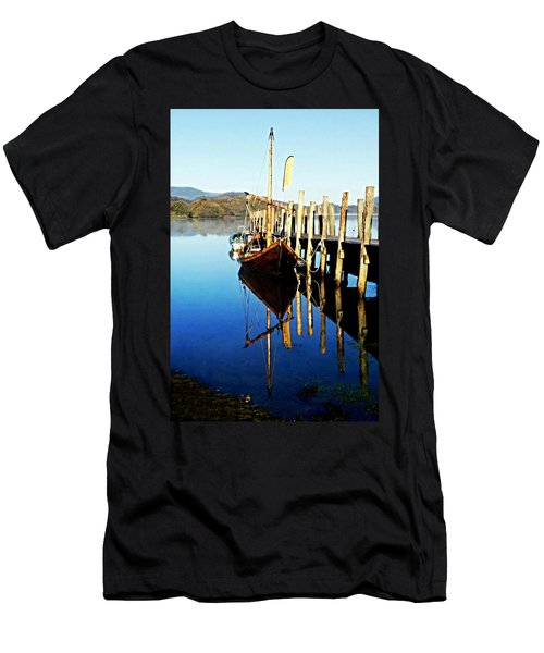 Derwent Water Boat Men's T-Shirt (Athletic Fit)