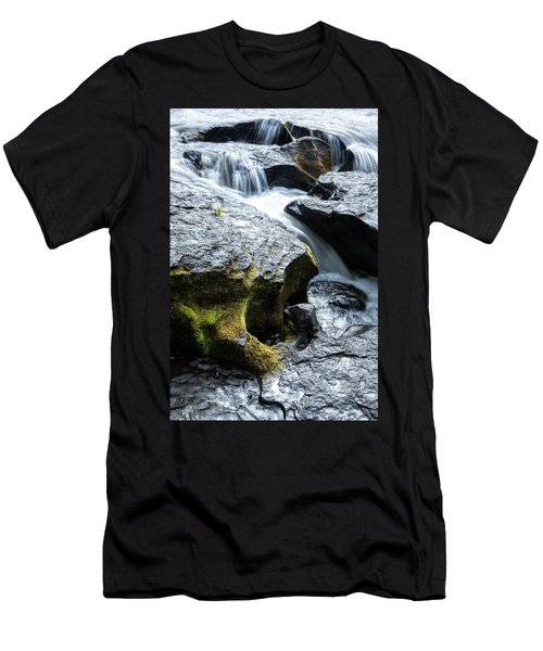 Men's T-Shirt (Athletic Fit) featuring the photograph Deschutes Carved Basalt by Tim Newton