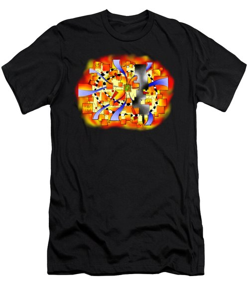 Deselia V3 - Abstract Digital Artwork Men's T-Shirt (Athletic Fit)