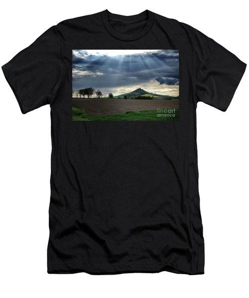 Desenberg Castle Ruins Under The Sunbeams Men's T-Shirt (Athletic Fit)