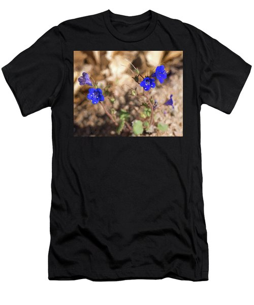 Men's T-Shirt (Athletic Fit) featuring the photograph Desert Blue Bells At Joshua Tree National Park by Penny Lisowski
