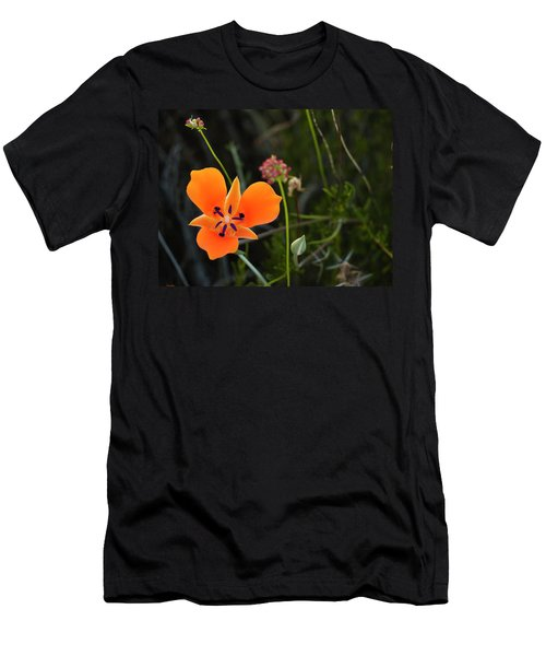 Men's T-Shirt (Athletic Fit) featuring the photograph Desert Flower 3 by Penny Lisowski