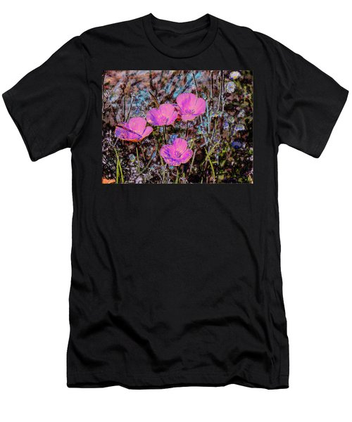 Desert Flowers Abstract Men's T-Shirt (Slim Fit) by Penny Lisowski