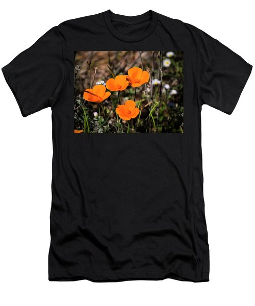 Men's T-Shirt (Athletic Fit) featuring the photograph Desert Flowers Four Flowers Four by Penny Lisowski