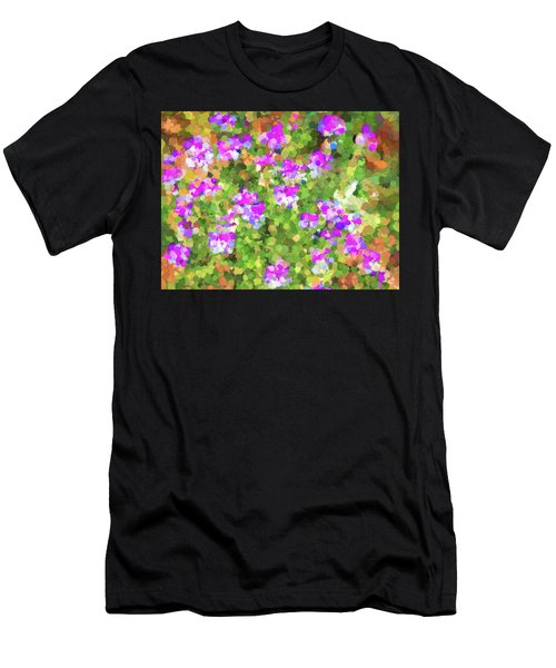 Desert Flowers In Abstract Men's T-Shirt (Slim Fit) by Penny Lisowski