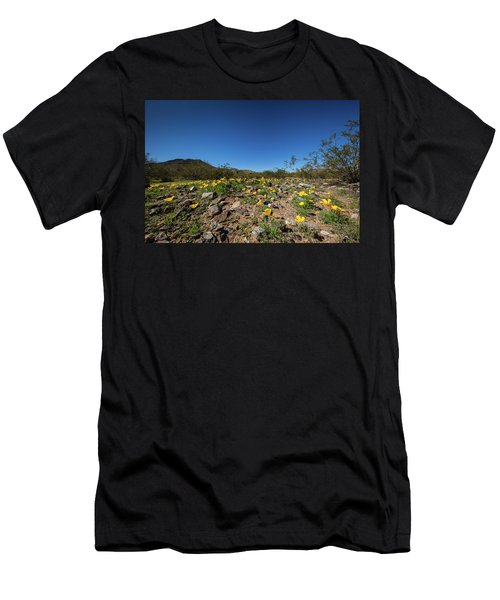 Desert Flowers In Spring Men's T-Shirt (Slim Fit) by Ed Cilley