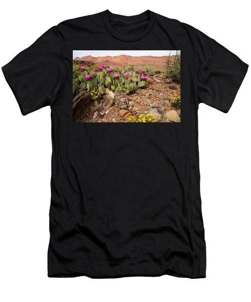 Desert Cactus In Bloom Men's T-Shirt (Athletic Fit)