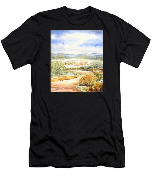 Desert Landscape Watercolor Men's T-Shirt (Athletic Fit)