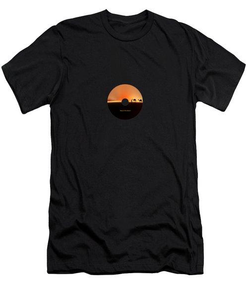 Desert Mirage Men's T-Shirt (Slim Fit) by Valerie Anne Kelly