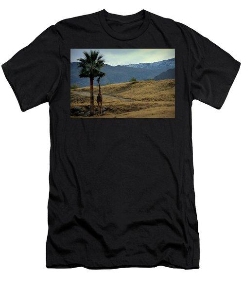 Desert Palm Giraffe 001 Men's T-Shirt (Athletic Fit)