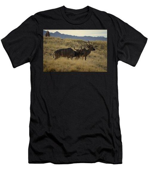 Desert Palm Landscape Men's T-Shirt (Athletic Fit)