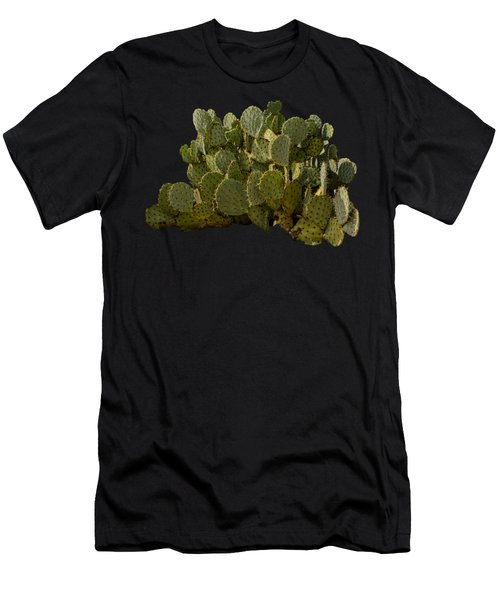 Men's T-Shirt (Athletic Fit) featuring the photograph Desert Prickly-pear No6 by Mark Myhaver
