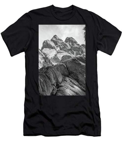 Men's T-Shirt (Athletic Fit) featuring the photograph Desert Rock Formation by Frank DiMarco