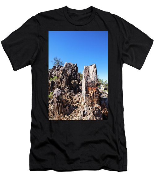 Men's T-Shirt (Slim Fit) featuring the photograph Desert Rocks by Ed Cilley