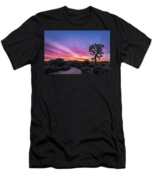 Men's T-Shirt (Athletic Fit) featuring the photograph Desert Sunrise At Joshua Tree by John Hight
