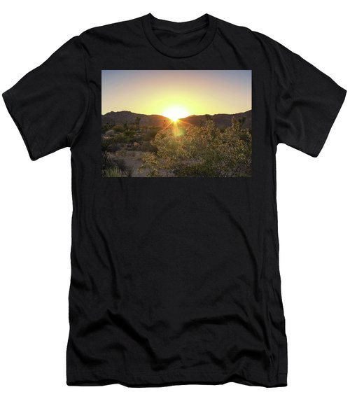 Men's T-Shirt (Athletic Fit) featuring the photograph Desert Sunset by Alison Frank