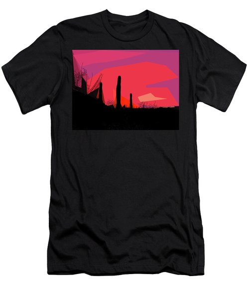 Desert Sunset In Tucson Men's T-Shirt (Athletic Fit)