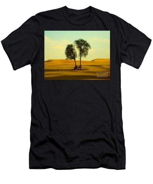 Men's T-Shirt (Athletic Fit) featuring the photograph Desert Trees by Barbara Von Pagel