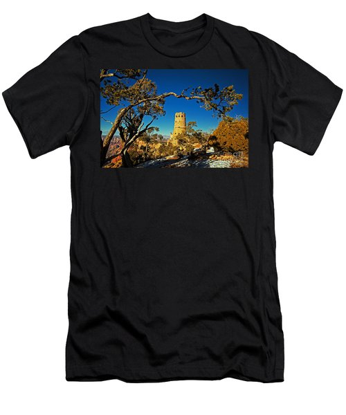 Desert View Watchtower, Grand Canyon National Park, Arizona Men's T-Shirt (Athletic Fit)