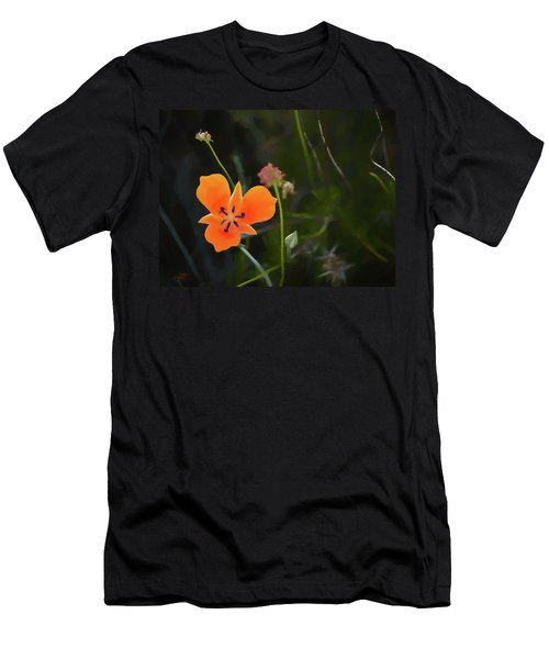 Men's T-Shirt (Athletic Fit) featuring the photograph Desert Wildflower 2 by Penny Lisowski