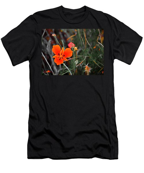 Men's T-Shirt (Athletic Fit) featuring the photograph Desert Wildflowers by Penny Lisowski