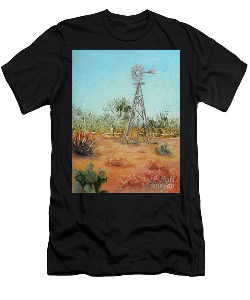 Desert Windmill Men's T-Shirt (Athletic Fit)