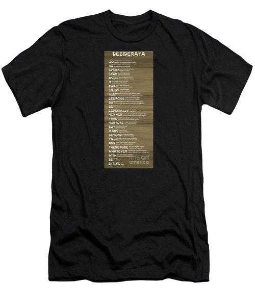 Desiderata 17 Men's T-Shirt (Athletic Fit)
