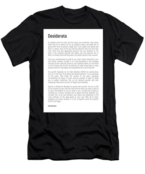 Desiderata #minimalism Men's T-Shirt (Athletic Fit)