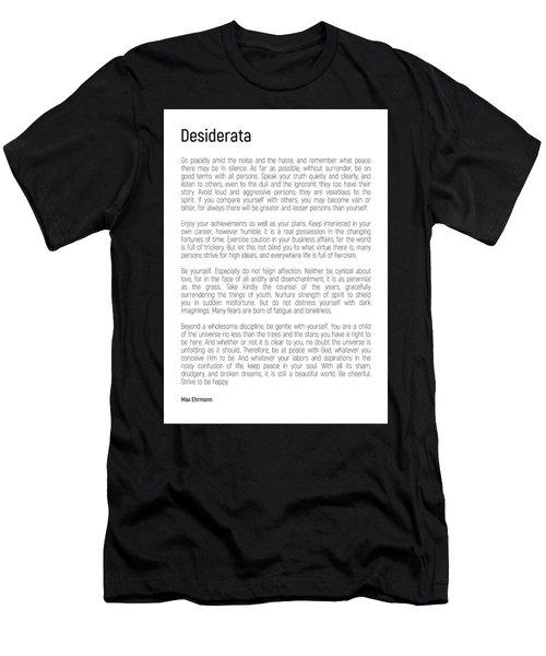 Desiderata #minimalism Men's T-Shirt (Athletic Fit)