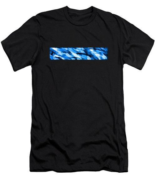 Designer Camo In Blue Men's T-Shirt (Athletic Fit)