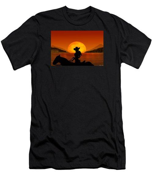Men's T-Shirt (Slim Fit) featuring the digital art Desperado by Bernd Hau