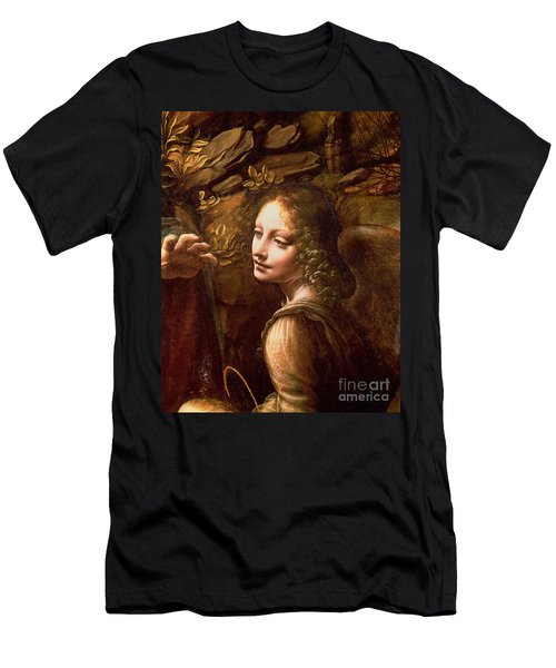 Detail Of The Angel From The Virgin Of The Rocks  Men's T-Shirt (Athletic Fit)