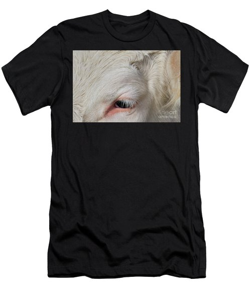 Men's T-Shirt (Athletic Fit) featuring the photograph Detail Of The Head Of A Cow by Nick Biemans