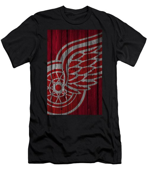 Detroit Red Wings Wood Fence Men's T-Shirt (Athletic Fit)
