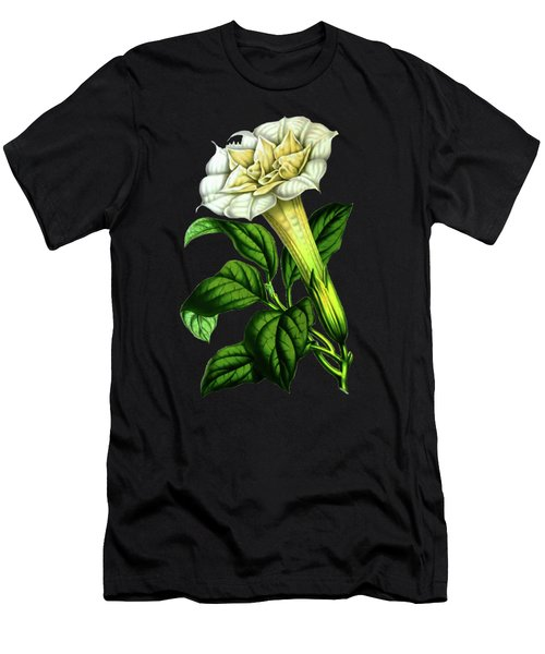 Devil Trumpet Datura Fastuosa Men's T-Shirt (Athletic Fit)