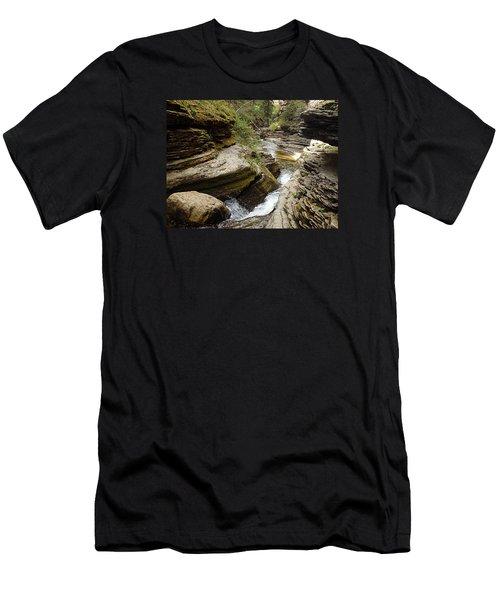Men's T-Shirt (Athletic Fit) featuring the photograph Devil's Bathtub Sd by James Peterson