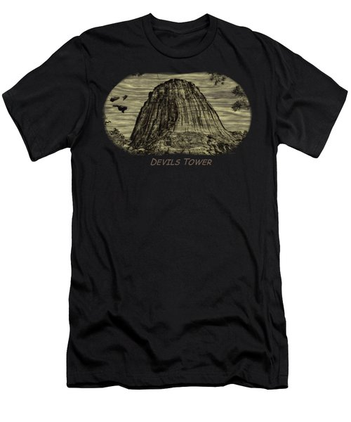 Devils Tower Woodburning 2 Men's T-Shirt (Athletic Fit)