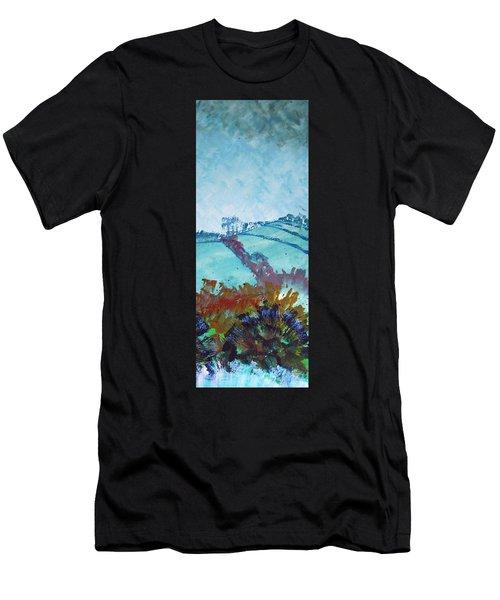 Devon Landscape Painting - Hills Near Exeter Men's T-Shirt (Athletic Fit)